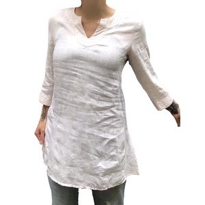 Eileen Fisher 100% Irish Linen Tunic